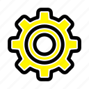 basic, gear, general, wheel icon