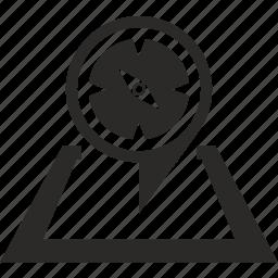 compass, geo, location, map, pointer icon
