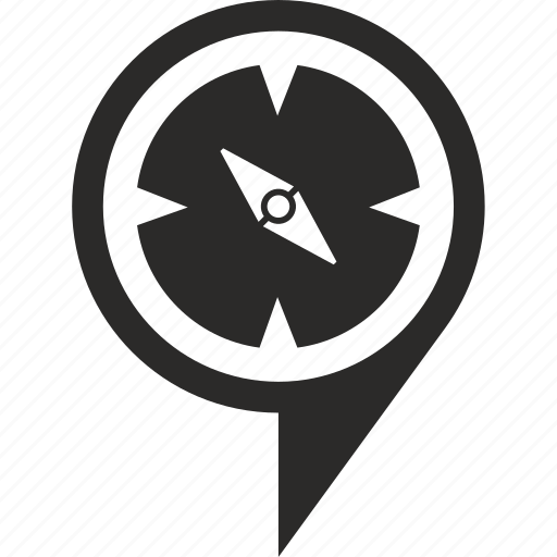 compass, geo, navigation, pointer icon