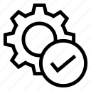 configuration, done, option, setting, tick icon