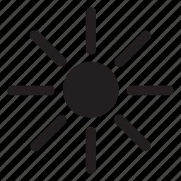 brightness, change, edit, preference, settings, sun icon