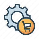 cart, configuration, gear, option, setting icon