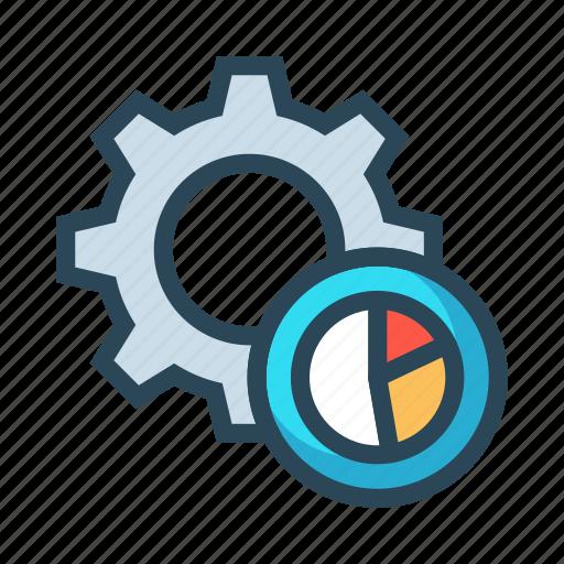 configuration, gear, graph, option, setting icon