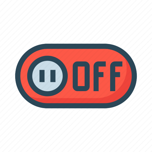 inactive, off, slider, switch, toggle icon