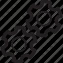 change, gears, handwork, preference, settings, tool icon