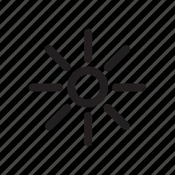 brightness, preference, settings, summer, sun, warm icon