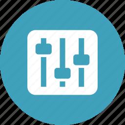 audio, configuration, controls, preferences, settings, vertical icon