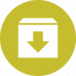 box, delivery, download, fragile, package, product, shipping icon