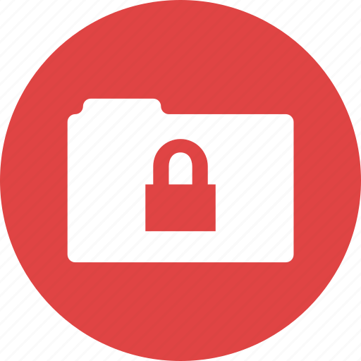 archive, folder, inaccessible, locked, padlock, protected icon