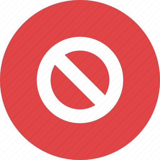forbidden, no, prohibited, restricted, stop, symbol, wrong icon