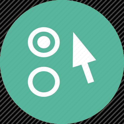 arrow, option, preferences, settings icon