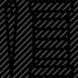 needle, sew, thread, thread cone, thread spool icon
