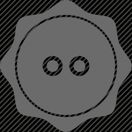 button, cloth button, round button, sewing, shirt button icon