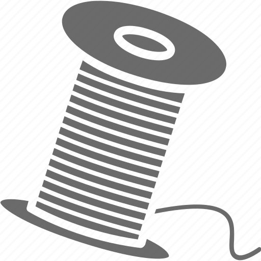 sew, sewing thread, thread, thread cone, thread spool icon