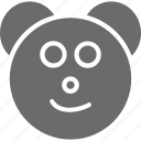 bear, emoji, emoji face, face, teddy icon