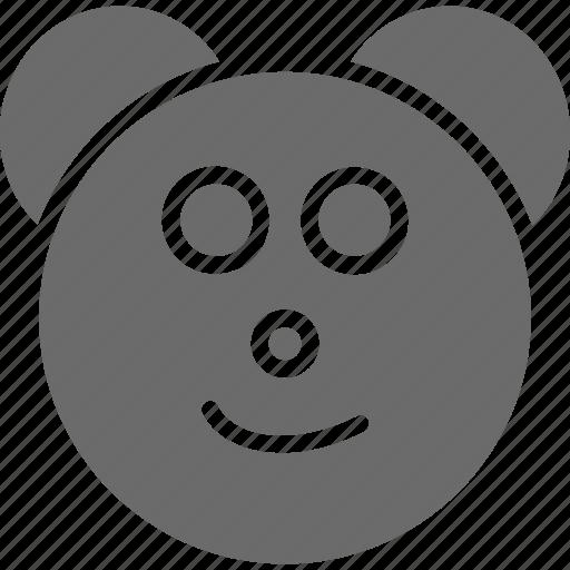 bear, emoji, emoji face, face, teddy icon