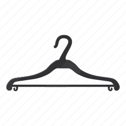 cartoon, clothing, coat, hanger, line, logo, thin icon