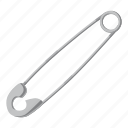 cartoon, equipment, household, pin, sharp, tailor, tool icon