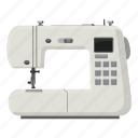 cartoon, household, pin, sewing machine, sharp, tailor, tool icon