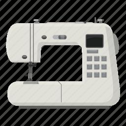 cartoon, household, pin, sewing machine, sharp, tailor, tool icon