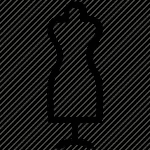 dress dummy, dress form, dummy, lady figure, manikin, mannequin icon