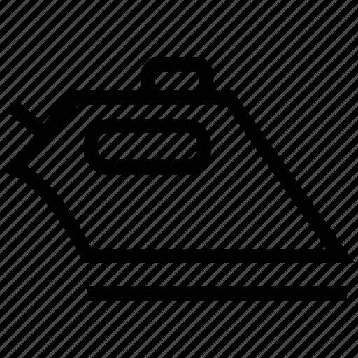 care label, high temperature, iron, laundry symbol icon