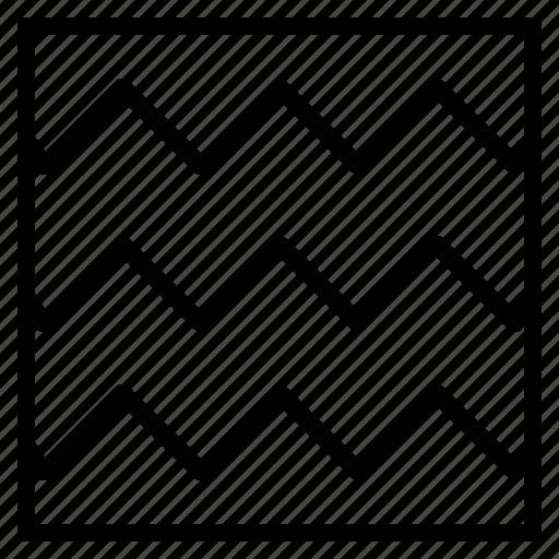 line, pattern, sewing, stitch, zigzag icon