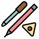 chalk, design0a, marking, pen, pencil, sewing, tools icon