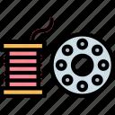 craft, needle, thread, thread icon icon