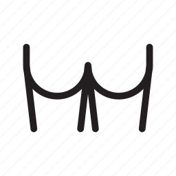 bottom, butt, buttock icon