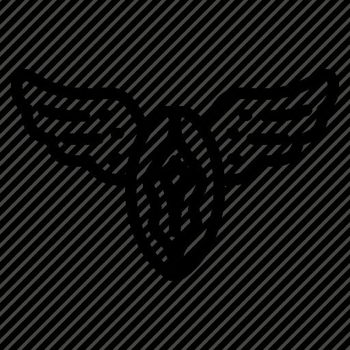 fly, metamorphosis, sex, vagina icon