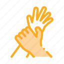 arm, hand, harassment, hit, hold, stop icon