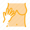 hand, harassment, touching, victim icon