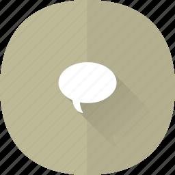 bubble, chat, comment, comments, message, shadow, speak, speech, talk icon
