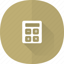 calculator, compute, count, number, shadow icon