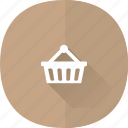 basket, buy, cart, ecommerce, long, online, shadow, shop, shopping, store, webshop icon