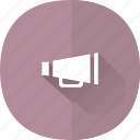 loudspeaker, marketing, megaphone, shadow icon