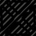 pattern, quarter, rectangle icon