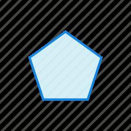 geometry, pentagon, shape, shapes icon