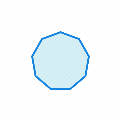 geometry, heptagon, octagon, shape, shapes icon