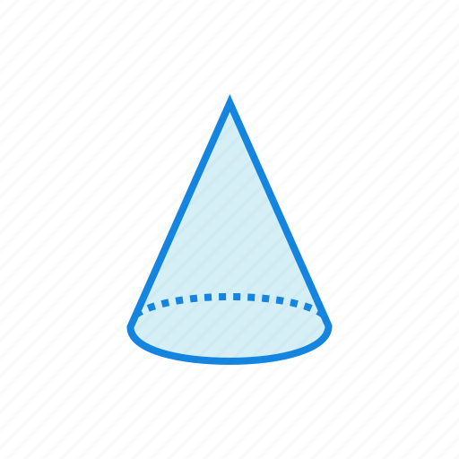 cone, geometry, shape, shapes icon