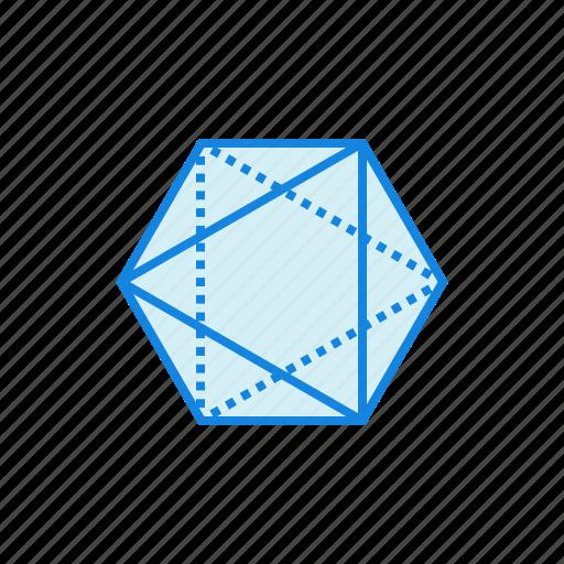 geometry, hexagon, shape, shapes icon