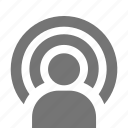 signal, user icon