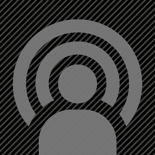 signal, user icon