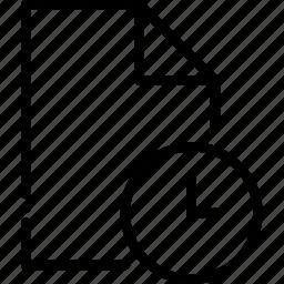 outline, please, type, wait icon