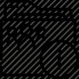 folder, outline, properties, shared icon