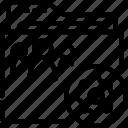 folder, outline, settings, shared