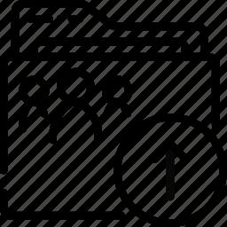 folder, outline, shared, upload icon