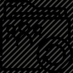 folder, outline, refresh, shared icon