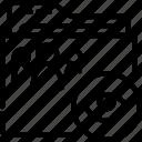 folder, hide, outline, shared